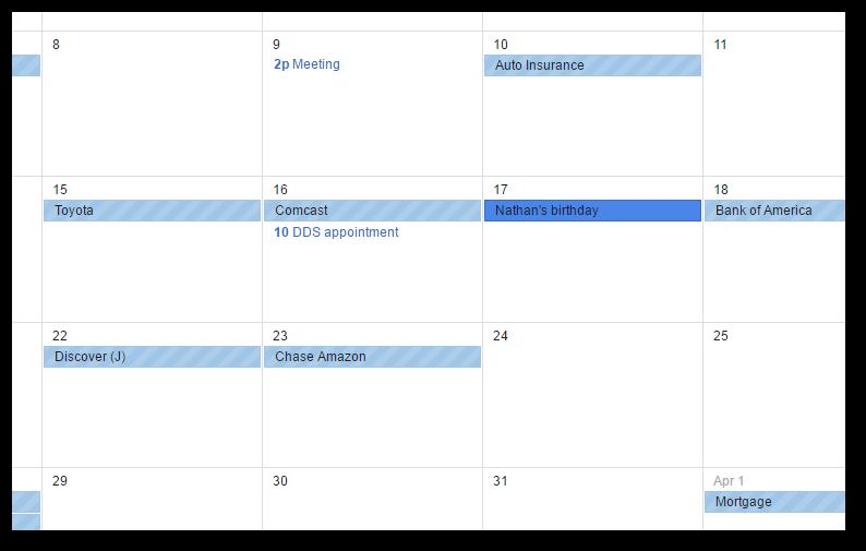 Undebt.it calendar subscription