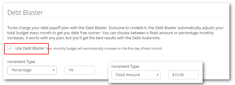 debt blaster options