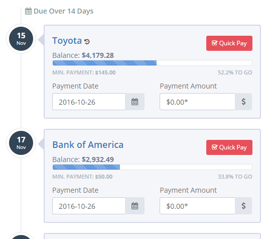 Use the Payment Manager to stay on top of your accounts