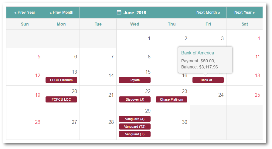 undebt it budget app integrated calendar