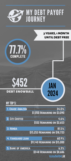 my debt payoff journey infographic